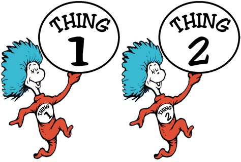 thing 1 template thing 1 and thing 2 iron on transfer ebay