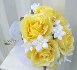 Silk Wedding Bouquets Silk Wedding Bouquet Yellow Rose