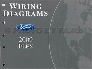 2009 Ford Flex Service Shop Repair Manual Set Oem 2 Volume Set And The Wiring Diagrams Manual