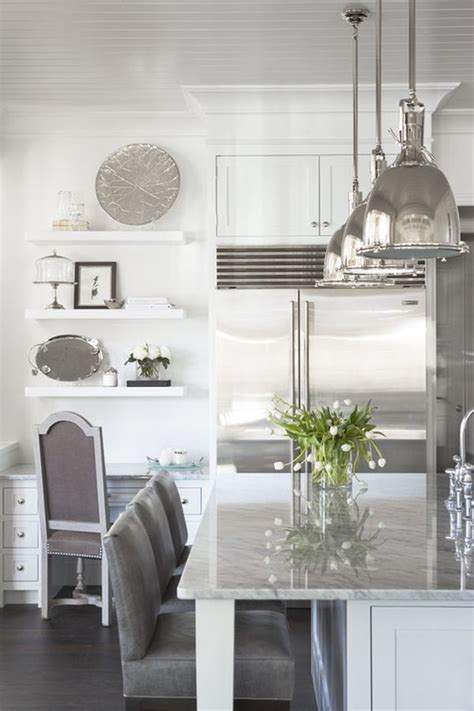 silver kitchen accessories decorating with whites silvers ideas and inspiration 2223