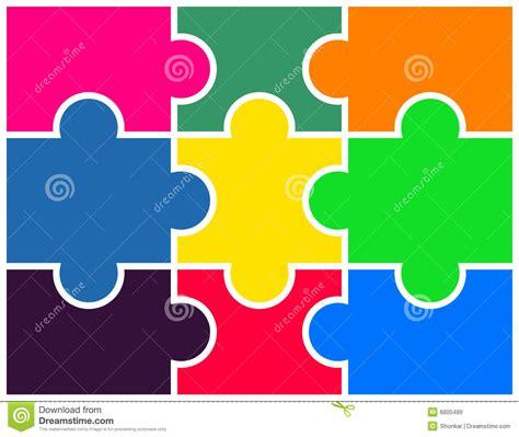 puzzle stock vector image  colored organization