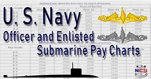 Navycs Pay Chart U S Navy Submarine Pay Chart