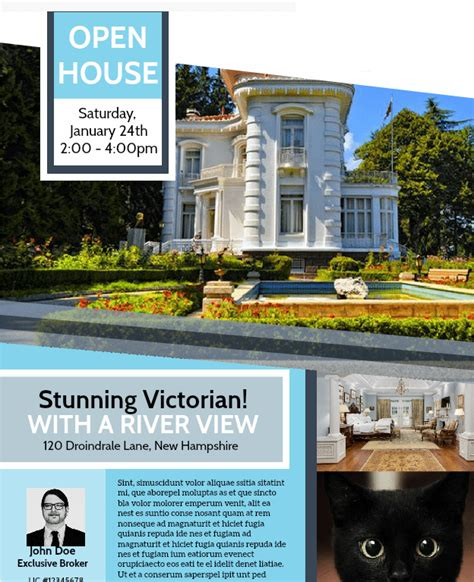 House Brochure Template by Free Open House Flyer Template Downloadable