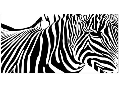 Abstract Black And White Animal Drawings by Cheap Black And White Canvas Of An Abstract Zebra