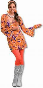Hippie Look 70er : hippie minikleid tangerine flower power mode hippie style karneval universe ~ Frokenaadalensverden.com Haus und Dekorationen
