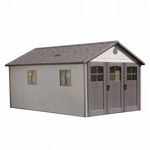 lifetime 11 ft x 185 ft storage shed with 9 ft wide With 5 ft wide barn door