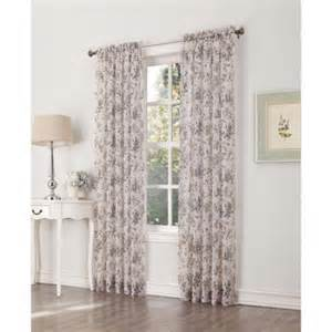 athena crushed voile print curtain panel set of 2 walmart