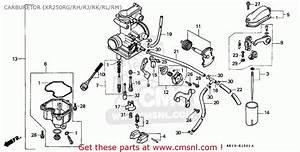 Honda Xr250r 1987  H  Australia Carburetor  Xr250rg  Rh  Rj