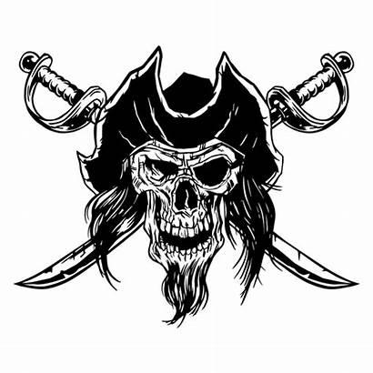 Skull Pirate Calavera Pirata Drawn Transparent Svg