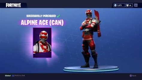 Fortnite // Buying The * New * Skins Alpine Ace //