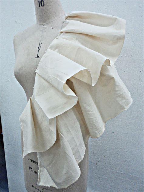 garment draping draping fabric on the stand ruffles fashion
