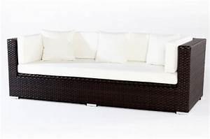 Gartensofa 3 Sitzer : 3 sitzer sofa aus polyrattan wetterfest in braun kaufen ~ Lateststills.com Haus und Dekorationen