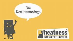 Infrarotheizung Kosten Erfahrung : deckenmontage einer heatness infrarotheizung ~ Markanthonyermac.com Haus und Dekorationen