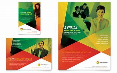 Flyer Company Ad Template Relations Templates Ads