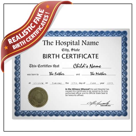 birth certificate online template fake birth certificate fake certificate of birth