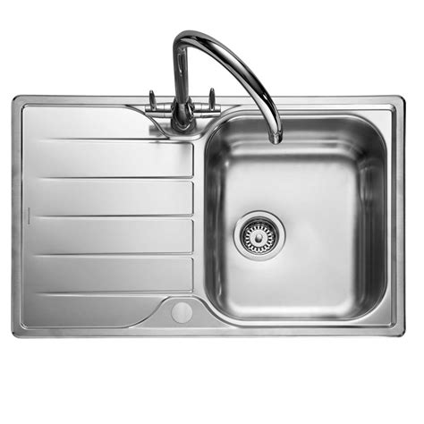 rangemaster michigan compact mg stainless steel sink