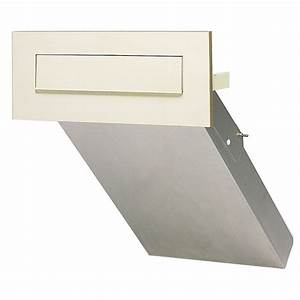 dad norvin silver through the wall mail box letter boxes With through wall letter chute