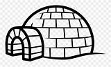 Clipart Igloo Pinclipart Coloring sketch template