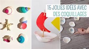 Bricolage A Faire Avec Des Petit : 15 projets de bricolages pour enfants avec des coquillages ~ Melissatoandfro.com Idées de Décoration