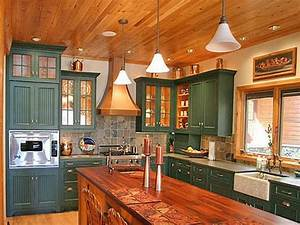 green painted kitchen cabinets lowes country living With kitchen cabinets lowes with bright coloured wall art
