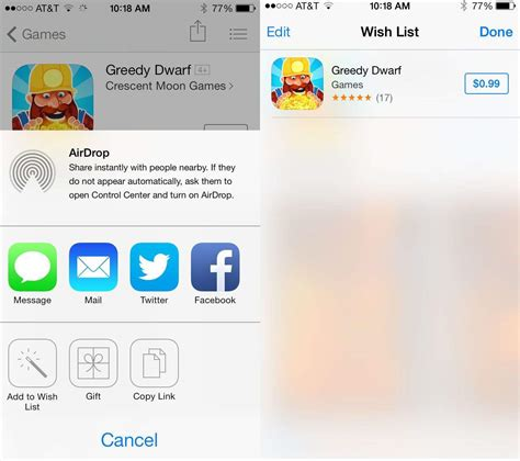 use ios 7 beta s new app store wishlist feature to manage