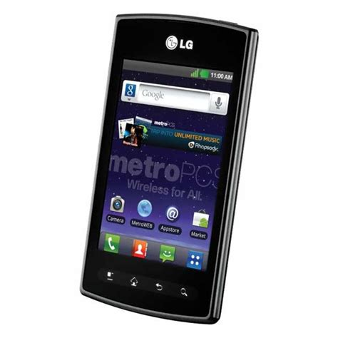 metro pcs new phones new lg optimus m lm695 metro pcs phone android 2 3