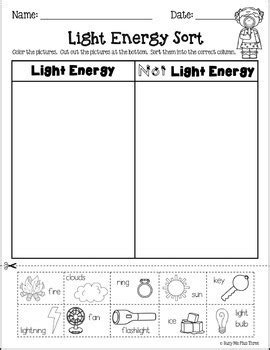 forms of energy set with heat light and sound grades 1