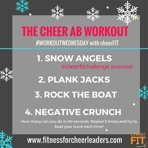 Rock The Boat Workout by The Cheer Ab Workout Cheerfit