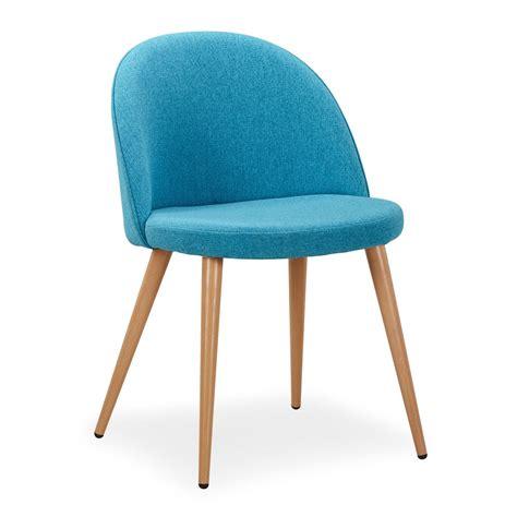 la chaise et bleu chaise scandinave tissu bleu lot de 4 lestendances fr
