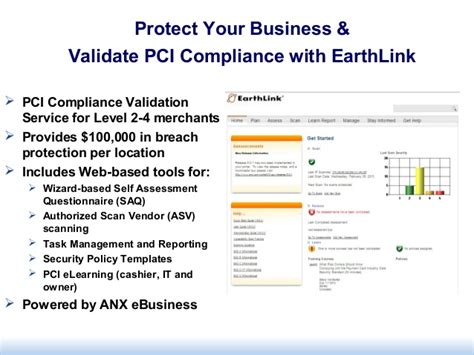 pci compliance overview earth link business