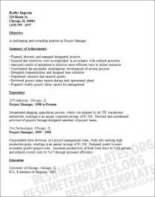 project manager resume template free project manager resume template