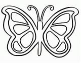 Coloring Butterfly Simple Pages Popular sketch template
