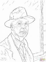 Portrait Coloring Self Pages Edward Hopper Printable Template Getcolorings Reference Sketch Drawing Getdrawings sketch template