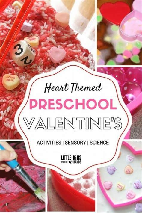 valentine day activities  preschool  bins