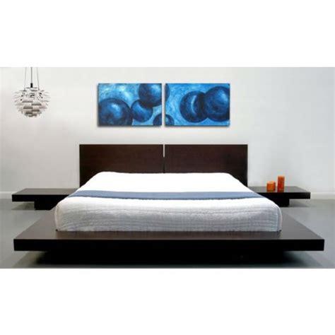 king modern japanese style platform bed  headboard