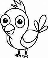Funny Bird Coloring Drawing Getdrawings sketch template