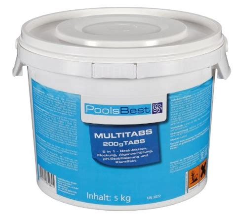 chlor multitabs test 5 kg poolsbest chlor multitabs 5in1 poolreiniger test
