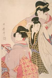 File:Kitagawa Utamaro I, Japanese - Two Geishas and a ...