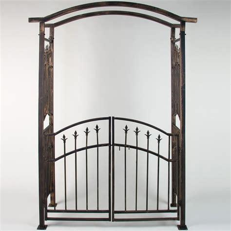 balance de cuisine arche de jardin avec portillon bronze 207 x 140 x 50 cm