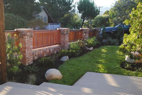 Brick Wood Fence #5746