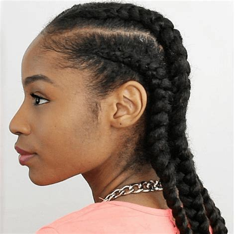 Cornrow With Extensions Hairstyles by 4 Cornrows On Hair With Extensions And