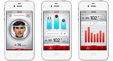 mobile heart rate monitoring app detects pulse