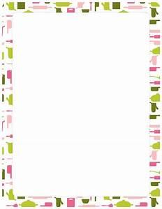 Printable cooking border. Free GIF, JPG, PDF, and PNG ...