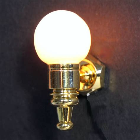 dolls house wall light with globe shade lt2025 de040