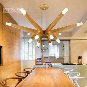 Nordic modern led wood ceiling light lamp