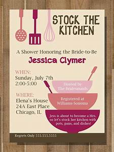 Resume Introduction Printable Bridal Shower Invitation Stock The Kitchen