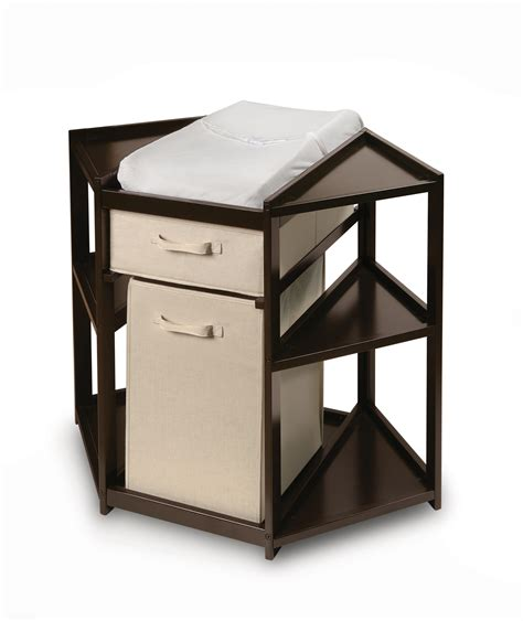 badger basket changing table badger basket espresso diaper corner changing table with