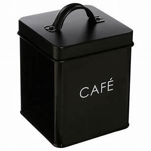 Boite à épices : bo te de rangement m tal caf 14cm noir ~ Teatrodelosmanantiales.com Idées de Décoration