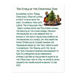 the story of the christmas tree postcard zazzle