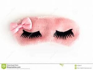 Roze slaapmasker